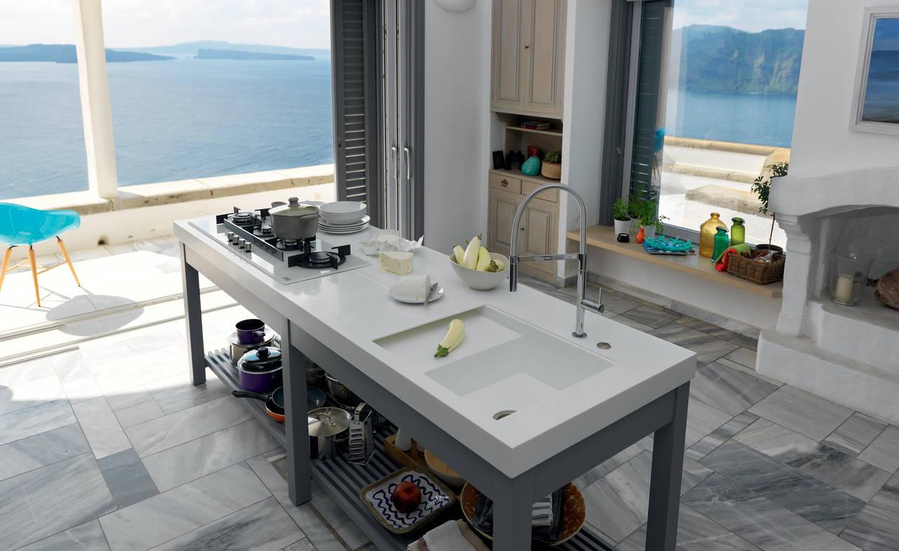 Misure Lavelli Cucina Franke.Nuovi Worktops Franke Con Lavelli Integrati Buongiovanni