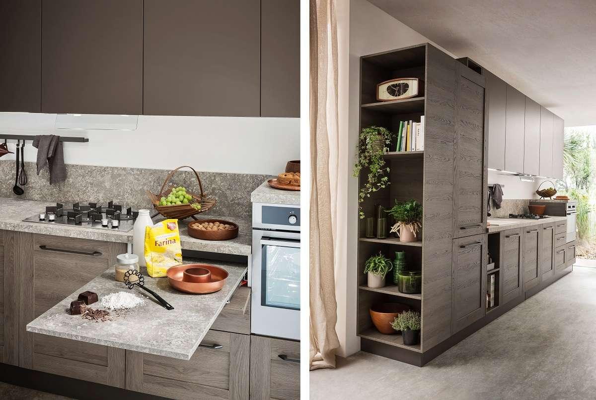 Frame ar tre decisi contrasti di stile e materiali for Materiali mobili