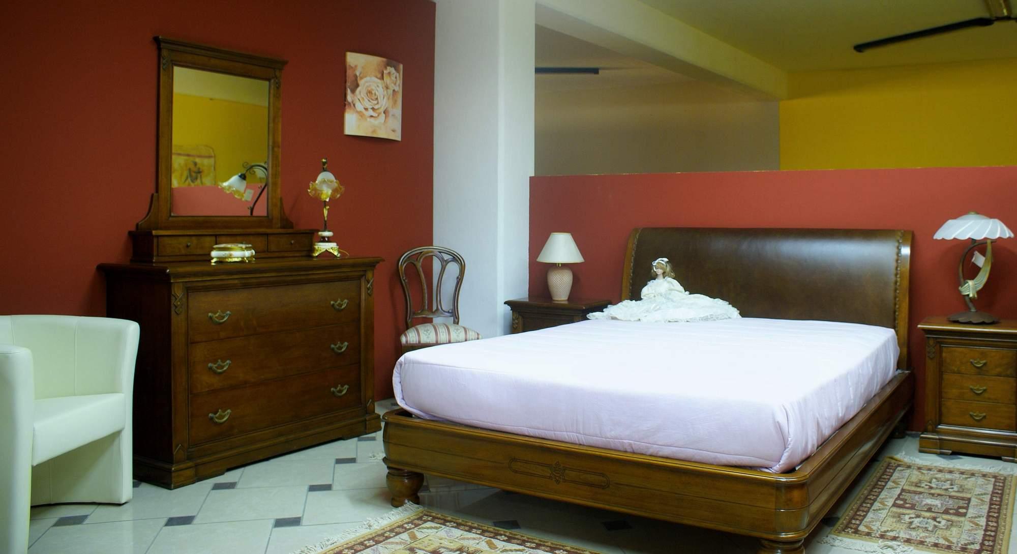 Camera da letto bamar classico noce scuro buongiovanni mobili - Camera da letto in noce ...